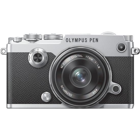 Olympus PEN-F inc 17mm f1.8 Lens Kit - Silver/Black