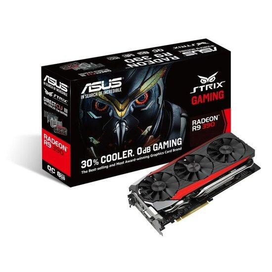 Asus Strix R9 390 Gaming 8GB GDDR5 DVI HDMI 3x DisplayPort PCI-E Graphics Card