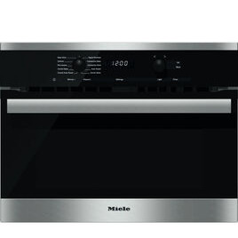 Miele H6200 BM Built-in Combination Microwave - Stainless Steel & Black