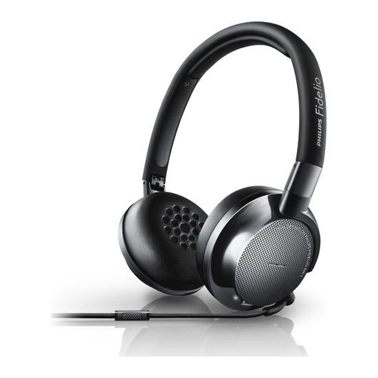 Philips Fidelo NC1/00 Noise-Cancelling Headphones - Black
