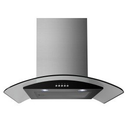 ElectriQ 60cm Stainless Steel Curved Glass Chimney Cooker Hood Reviews