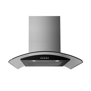 Photo of ElectriQ 60CM Stainless Steel Curved Glass Chimney Cooker Hood Cooker Hood