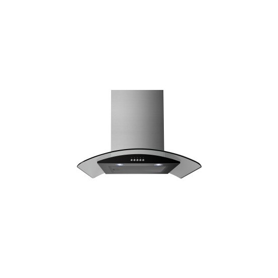 ElectriQ 60cm Stainless Steel Curved Glass Chimney Cooker Hood