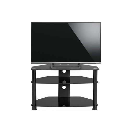 ValuFurniture Berlin Black Glass TV Unit for up to 42