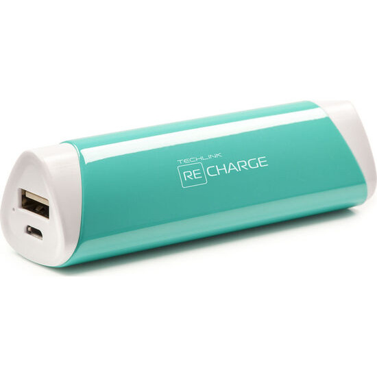Recharge 2600 Universal USB Travel Charger - Turquoise