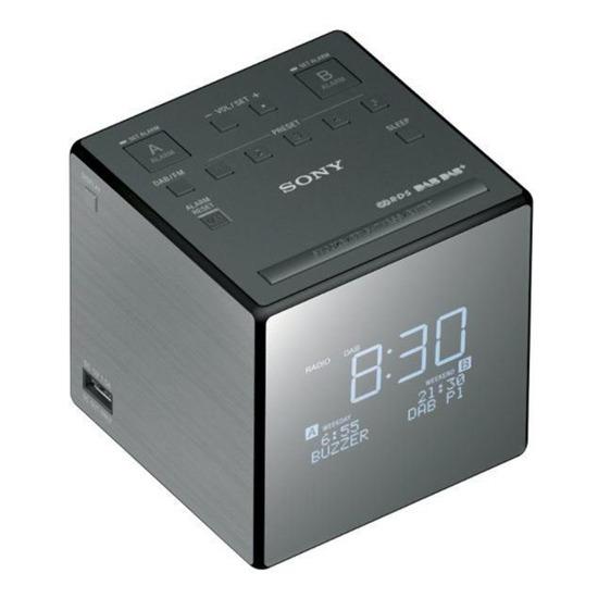 Sony XDRC1DBP Clock Radio