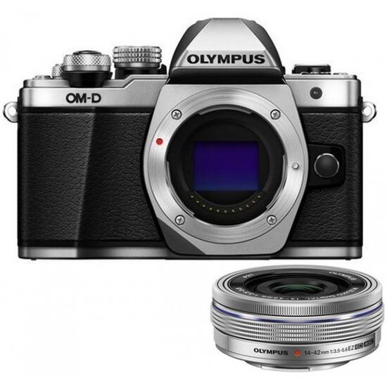 Olympus OM-D E-M10 Mark II Digital Camera with 14-42mm f/3.5-5.6 EZ Lens Kit