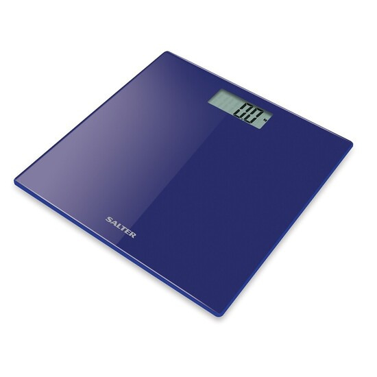 Salter Ultra Slim Glass Electronic Digital Bathroom Scales - Blue