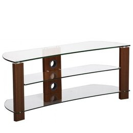 TNW Vision Curve 1200 Clear Glass TV Stand Reviews