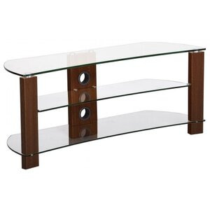 Photo of TNW Vision Curve 1200 Clear Glass TV Stand TV Stands and Mount