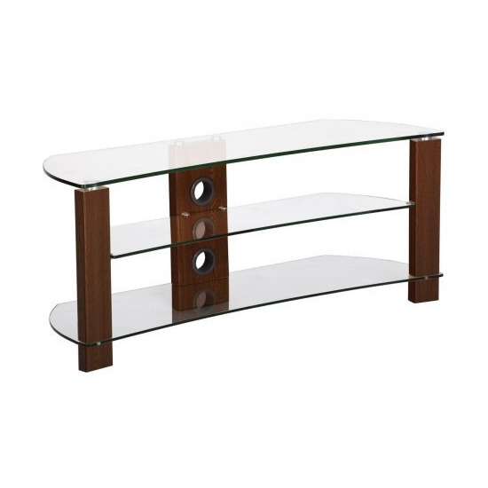 TNW Vision Curve 1200 Clear Glass TV Stand