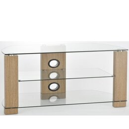 TNW Vision 1050 Oak and Clear Glass TV Stand Reviews