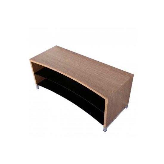 TNW Paris Curve 1300 Oak TV Stand For Up To 55  TVs