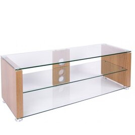 TNW Elegance 1000 Oak and Clear Glass TV Stand Reviews