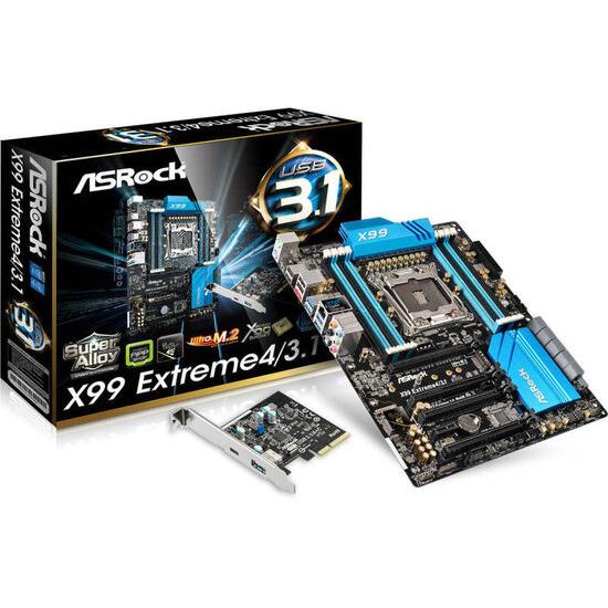 Asrock X99 Extreme4/3.1 Motherboard Core I7 And Xeon 18-core Processors Socket Lga 2011-3 X99 Atx Raid Gigabit Lan