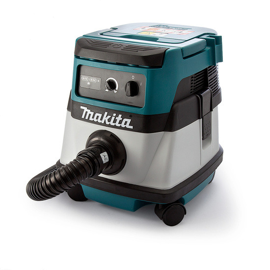 Makita DVC861LZ Dust Extractor Twin 18V Cordless or Corded L Class 240V