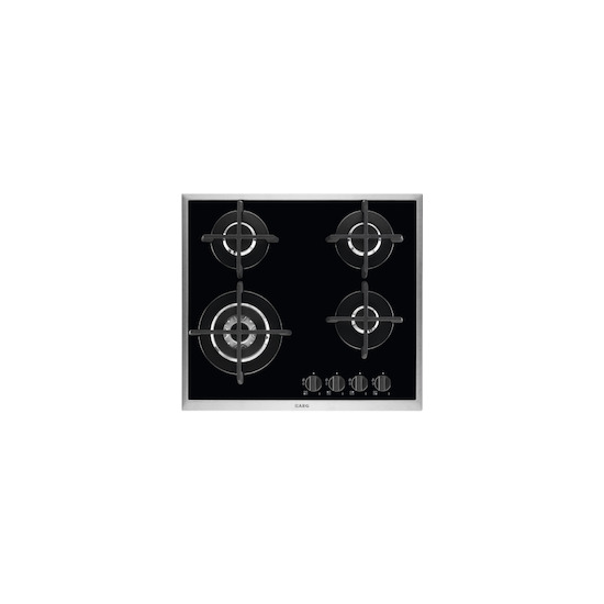 AEG HG694550XB Black glass 4 burner gas hob