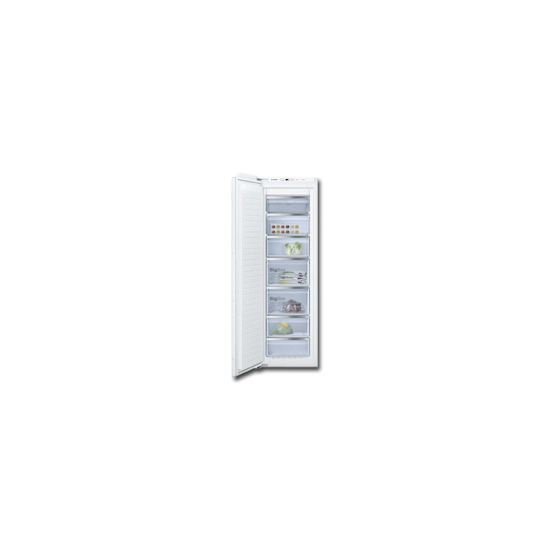 Bosch GIN81AE30G White Built freezer with decor panel