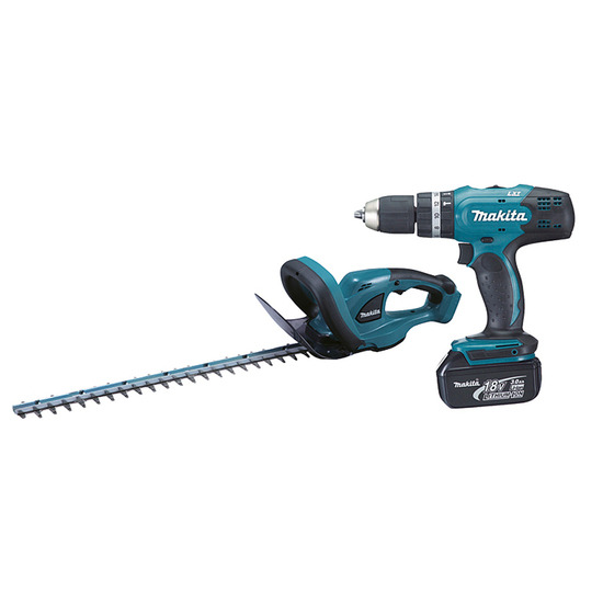 Makita DLX2113S Two Piece Combo Kit Combi Drill + Hedge Trimmer
