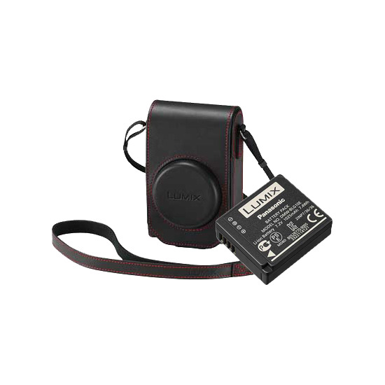 Panasonic Accessory Kit for the DMC-TZ100 - Black / Red Case