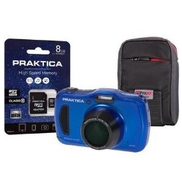 PRAKTICA Luxmedia WP240 Wtprf Blue Camera Kit inc 8GB MicroSD Card & Case Reviews