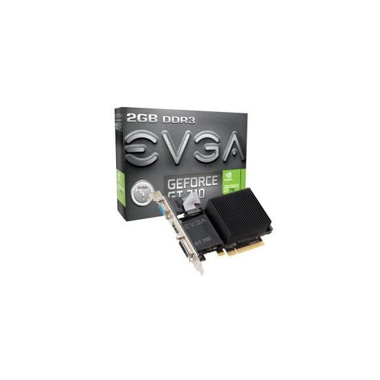 EVGA GeForce GT 710 Dual Slot Passive 2GB Graphics Card