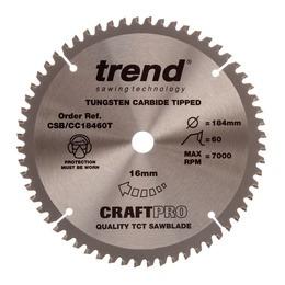 Trend CSB/CC18460T CraftPro Saw Blade Crosscut 184mm x 60 Teeth Reviews