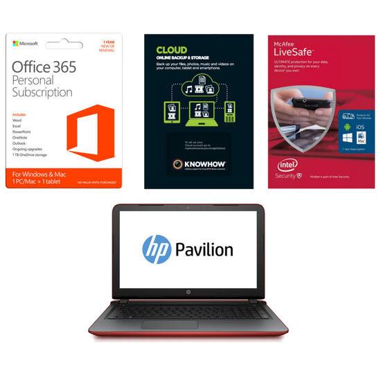 HP Pavilion 15.6 Laptop with Software Bundle
