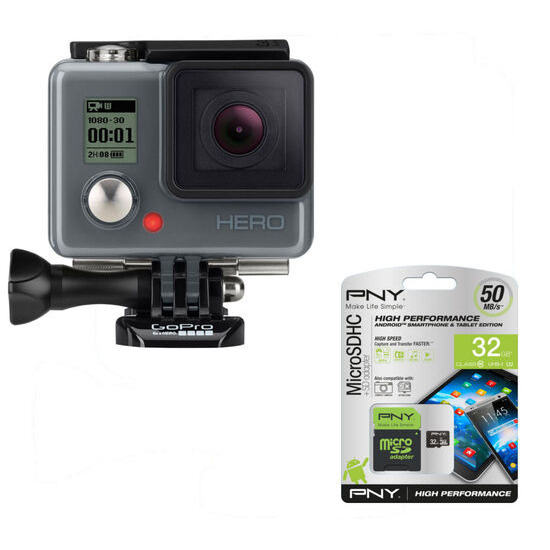 Hero Action Camcorder & microSD Memory Card - 32 GB