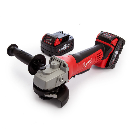 Milwaukee M18 Fuel HD18 Angle Grinder 115mm Charger and Case (2 x 4.0Ah Batts)