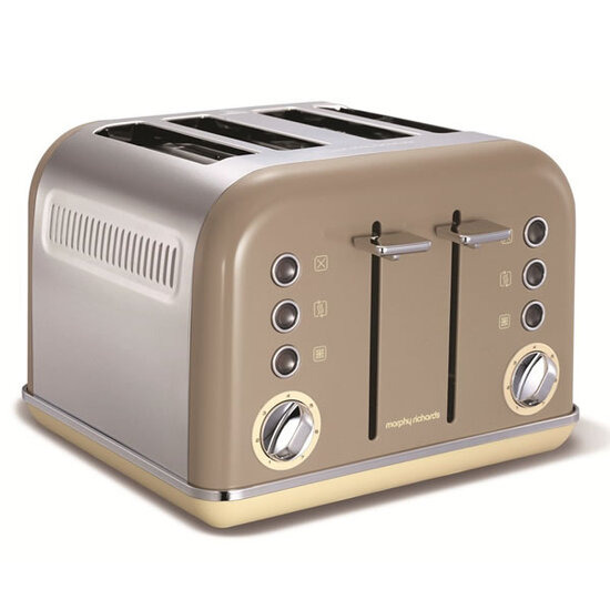 Morphy Richards ACCENTS 242008 4-Slice 4-Slot Toaster Barley