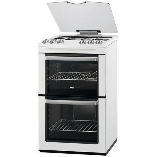 Zanussi ZCG55WGW 550mm Twin Cavity Gas Cooker + Grill