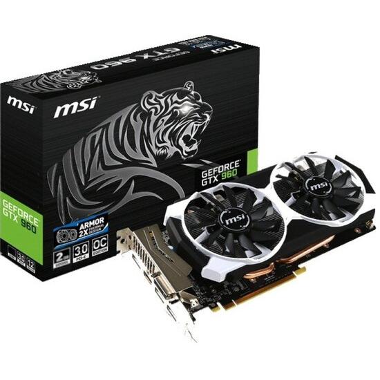 MSI GeForce GTX 960 OC 2GB GDDR5 DVI HDMI 3 x DisplayPort PCI-E Graphics Card