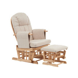 Mothercare Natural Reclining Glider Chair with Beige Cushion Reviews