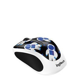 LOGITECH Spaceman M238 Wireless Optical Touch Mouse - Black & White