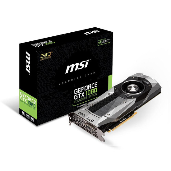 MSI GeForce GTX 1080 Graphics Card - Founders Edition