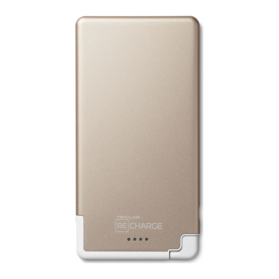 Recharge Ultrathin 5000 Universal Lightning Charger - Gold & White