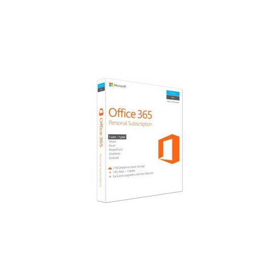 Microsoft Office 365 Personal 32/64 Bit - 1 PC/Mac + 1 Tablet + Smartphone P2