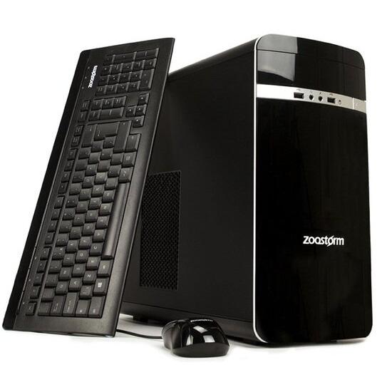 Zoostorm Desktop PC AMD A8 7600 Dual core CPU 2TB HDD 8GB RAM DVDRW AMD R7 Windows 10 Home