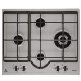 Electrolux EGH6343LXX 60cm Four Burner Gas Hob Stainless Steel Reviews