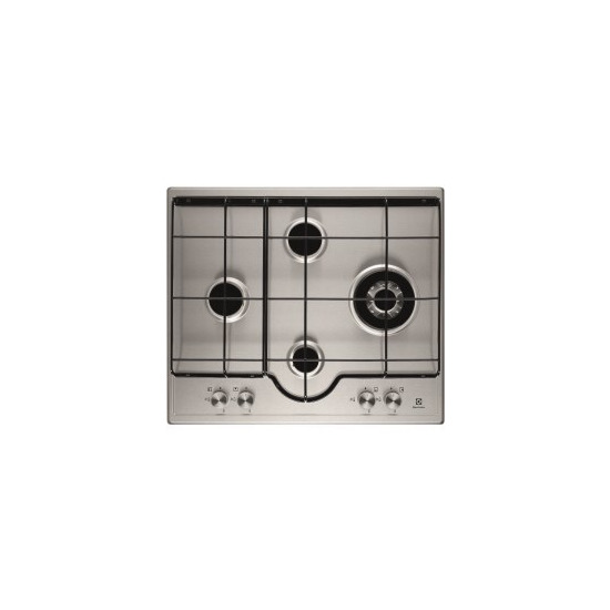 Electrolux EGH6243LOX 60cm Four Burner Gas Hob Stainless Steel