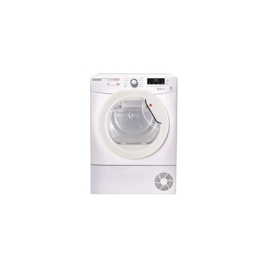Hoover DNHD813A280 8kg Freestanding Sensor Condenser Tumble Dryer With Heat Pump
