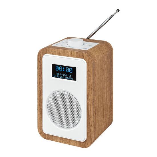 JVC RA-D51 DAB/FM Clock Radio - Wood & White
