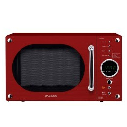 Daewoo KOR8A9RR 23 litre 800 W Retro Design Microwave Oven Gloss Red Reviews