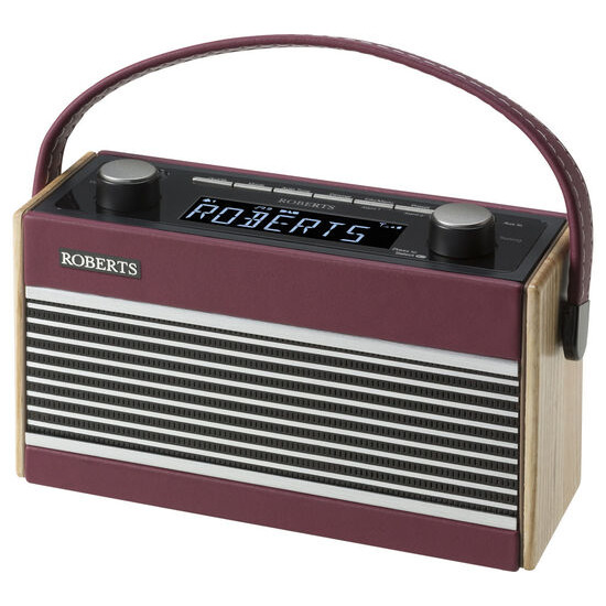 Rambler Portable DAB+/FM Clock Radio - Burgundy