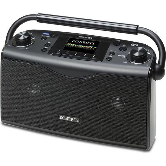 Roberts Stream217 Portable DAB+/FM Clock Radio - Black