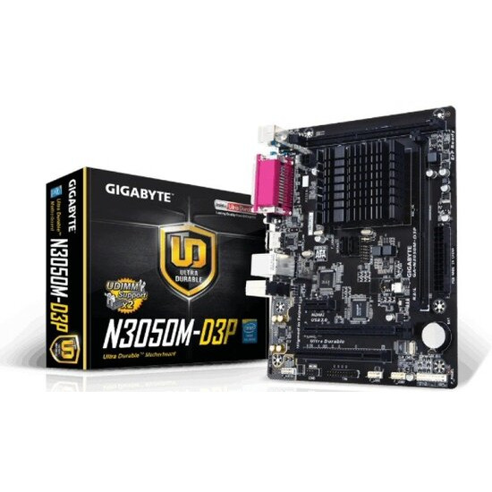 Gigabyte GA-N3050M-D3P N3050 1.6GHz VGA HDMI 7.1 Channel Audio ITX Motherboard