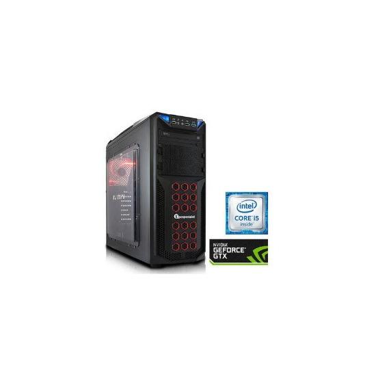 PC Specialist Osiris XL II Core i5-6500 3.2GHz 8GB 1TB SSHD Nvidia GTX 1070 8GB DVD-RW Windows 10 Gaming Desktop