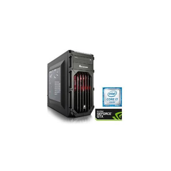 PC Specialist Osiris Pro II Core i7-6700 3.4GHz 16GB 2TB SSHD Nvidia GTX 1070 8GB DVD-RW Windows 10 Gaming Desktop
