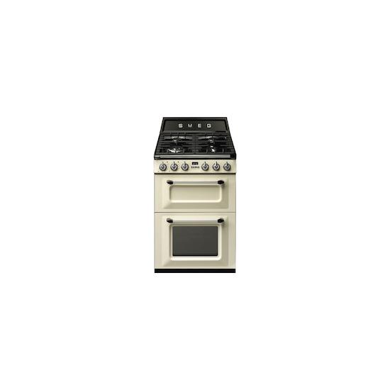 SMEG TR62P Cream 600mm dual fuel range cooker